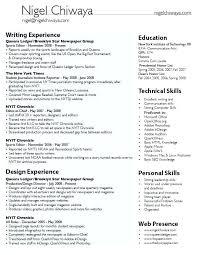 Example Of Internship Resume Student Template