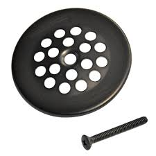 Bathtub Overflow Plate Without Screws by 2 7 8 In Bath Grid Strainer With In Oil Rubbed Bronze Danco