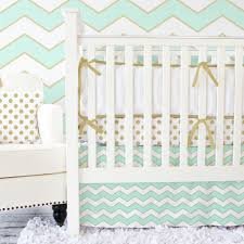Sweet Jojo Designs Crib Bedding by Custom 3 Piece Crib Bedding Mint Aqua Grey Coral Salmon Pink On