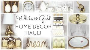 White Gold Home Decor Haul HomeGoods Target World Market Kirklands TJ Maxx Marshalls