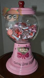 Halloween Candy Dish Craft by 235 Best Clay Pot Candy Cookie Jars Fish Bowl Images On Pinterest