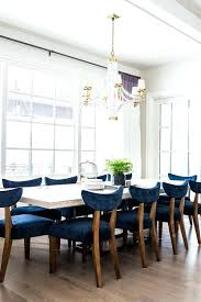 Blue Dining Room Table Furniture White Wood With Velvet