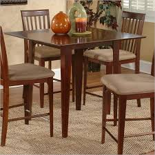 Atlantic Furniture Montreal Counter Height Pub Dining Table In Antique Walnut