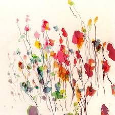 Inspiration For Kinder Art Make Lines With Sharpies Then Blobby Flowers Abstract Watercolor ArtWatercolour FlowersAbstract Simple