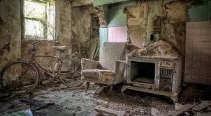 Decaying Dwellings Inside A Rundown Farmhouse