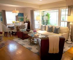 Amazing Decorating A Small Living Room Dining Combination
