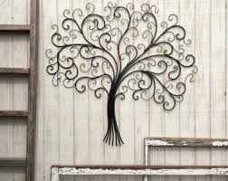 Tree Wall Decor Wood by Metal Tree Wall Art Etsy