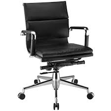 Desk Chair With Arms And Wheels by Bedroom Pleasing Boss Mid Back Black Leather Swivel Office Chair
