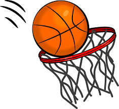 Basketball Going Through Net Clipart