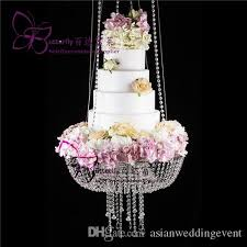 Dia 18 Clear Wedding Cake Stand Chandelier Style Suspended Cake