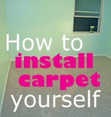 Stop Squeaky Floors Under Carpet by How To Install Carpet Yourself