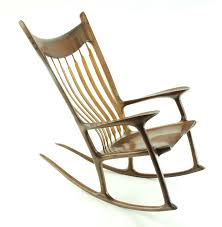 Maloof Rocking Chair Joints by Inspiration 2 0 Walnut Zebrawood Custom Rocking Chair 3