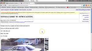 Craigslist Austin Used Cars For Sale By Owner - Cheap Vehicles Under ...
