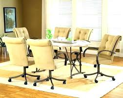 Dining Chair Caster Leather Swivel Room Chairs Exotic Rolling Ugears