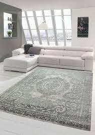 teppich orient wohnzimmer teppich mit ornamenten in grau größe 80x150 cm