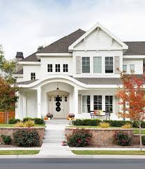 Brick House Styles Pictures by Best 25 White Exterior Houses Ideas On Farm House