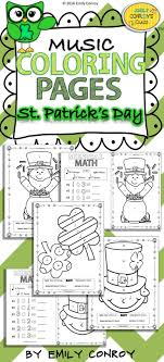 St Patricks Day Music Coloring Pages 16 Color By Note And Math
