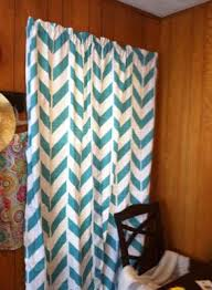 Teal And Brown Curtains Walmart by Mainstays Chevron Polyester Cotton Curtain With Bonus Panel