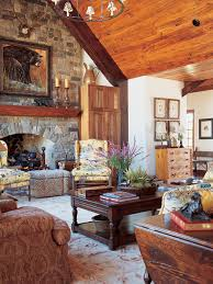 Photos Hgtv Rustic Living Room With Stone Fireplace