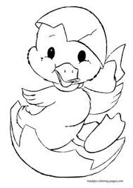 Easter Chick Coloring Pages 08