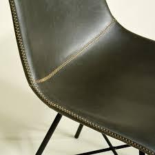 design stuhl edel grau mit toller kontrast naht