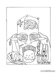 Very Scary Halloween Coloring Pages Cat Mask Page Source Online