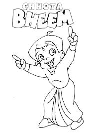 High Quality Free Printable Chota Bheem Cartoon Coloring Books For Kids