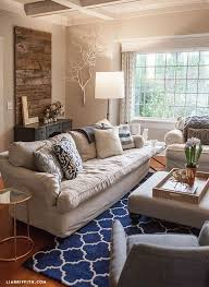 Navy And Gold Living Room