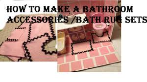 Red Bathroom Rug Set by How To Make A Bathroom Rug Set Plus Towels Set Youtube