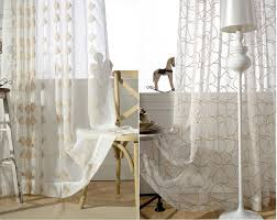 white cotton voile curtain unique new luxury embroidered birds