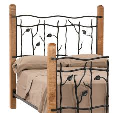 Antique Wrought Iron King Headboard by Bedroom Wooden And Metal King Size Bed With Leaf Carved Headboard