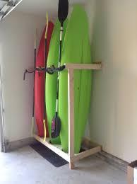 Garage Ceiling Kayak Hoist by Handmade Kayak Storage Random Cool Stuff Pinterest Kayak