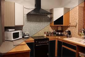 wohnideen kuchenschranke bekleben fur eine frische