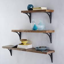Reclaimed Wood Shelves Diy by Reclaimed Wood Shelving Brackets West Elm
