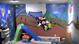 Mickey Mouse Clubhouse Bedroom Set kid u0027s playroom murals w mickey mouse youtube