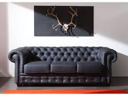 canapé chesterfield cuir noir canapé chesterfield cuir noir intérieur déco