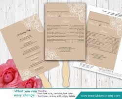 DiY Printable Wedding Fan Program Template