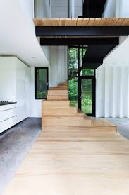 Tiny Tower Floors 2017 by Yh2 Adds Sculptural Upper Volume To Tiny Forest Cottage In Quebec