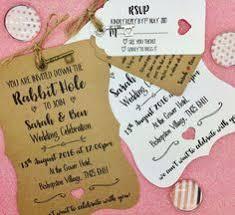 Alice In Wonderland Personalised Wedding Invite Bundle Day Evening Reception