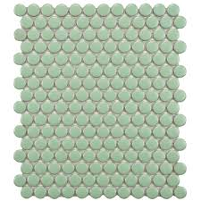 Home Depot Merola Lantern Ceramic Tile by Merola Tile Metro Penny Glossy White 9 3 4 In X 11 1 2 In X 6 Mm
