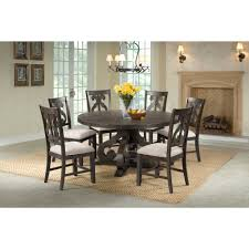 Picket House Furnishings Stanford Round 7PC Dining Set-Round Table & 6  Chairs Sonoma Road Round Table With 4 Chairs Treviso 150cm Blake 3pc Dinette Set W By Sunset Trading Co At Rotmans C1854d X Chairs Lifestyle Fniture Fair North Carolina Brera Round Ding Table How To Find The Right Modern For Your Sistus Royaloak Coco Ding With Walnut Contempo Enka Budge Neverwet Hillside Medium Black And Tan Combo Cover C1860p Industrial Sam Levitz Bermex Pedestal Arch Weathered Oak Six