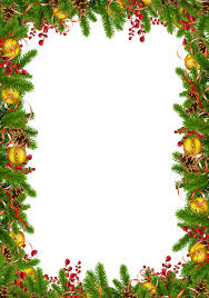 Transparent Christmas Photo Frame With Pine Cones