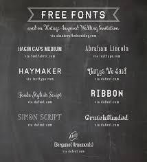 Free Vintage Fonts Wedding Invitations