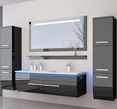 homeline doppelwaschtisch 120cm hochglanz doppelwaschbecken badmöbel set schwarz