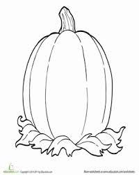 Kindergarten Holidays Seasons Worksheets Coloring Fall One Big Pumpkin