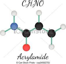C3h5no Acrylamide Molecule 3d Isolated