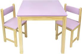 kindertisch und 2 stühle aus holz rosa tisch kinderstuhl für kinder kindersitzgruppe tischgarnitur dim 54 5 cm h