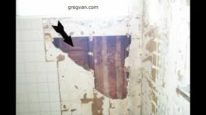 Sheetrock Vs Ceiling Tiles by Bathtub And Shower Wall Damage Green Board Drywall And Tile