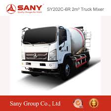 100 Concrete Truck Dimensions Sany Sy202c6r 2m3 Mixer High Safe Mixer