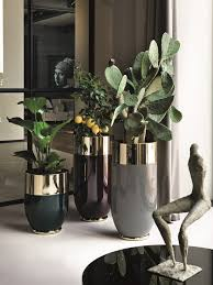 hoher runder blumentopf godwin cachepot longhi design